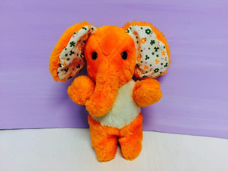 cec989fa5b7f1d Kamar Elephant Vintage Stuffed Animals Elephant Plush Cute