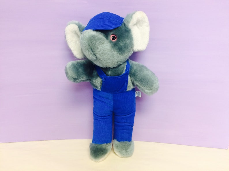 a98bdd36eff8bc Vintage Stuffed Elephant Interpur Stuffed Animals Plush