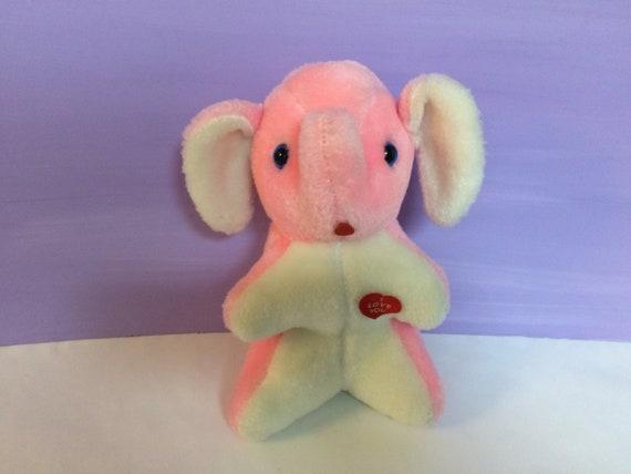 8d8ad54299caae Vintage Stuffed Elephant Pink Elephant I Love You