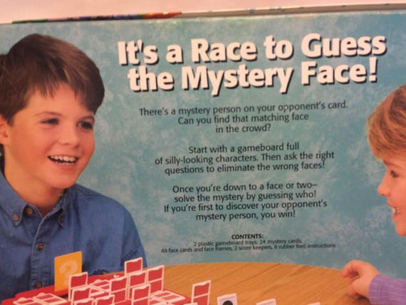 Guess Who Game The Mystery Face Game Vintage Board Game Etsy
