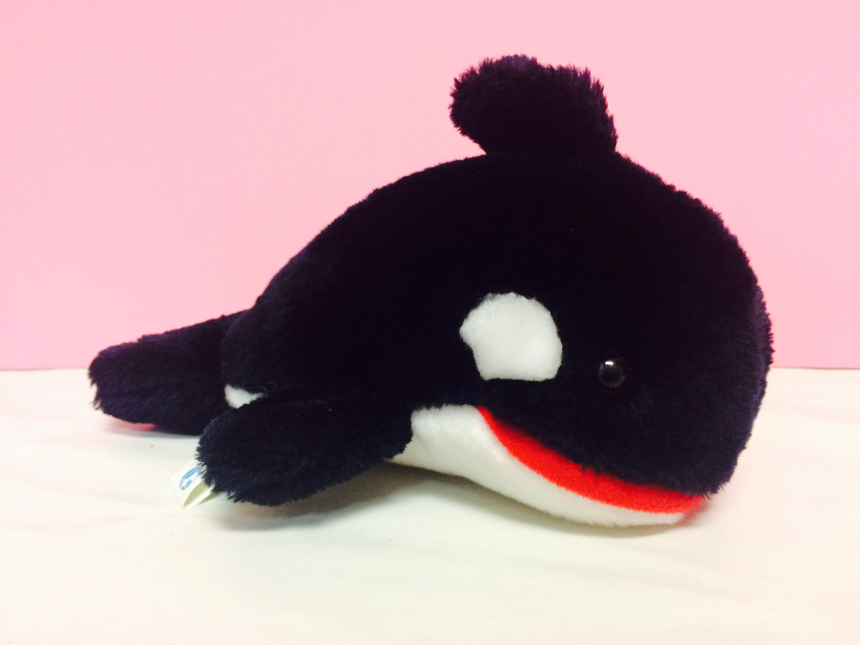 Vintage Seaworld Plush Shamu Orca Killer Whale 1987 Sea World Theme Park 1980s Stuffed Animals Cute 1980s Whale Collectible Plush Whale