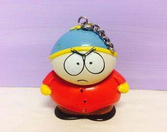 Vintage Southpark Keychain, Eric Cartman Figure, 1998 Comedy Central, Key Ring Figure, 1990s Pop Culture Memorabilia, Southpark Collectible