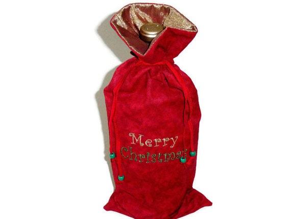 Embroidered Christmas Wine Bag Hostess Gifts For Men and  1e18457e2e