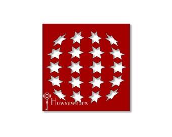 Craft stencil-Stars stripes stencil-Geometric stencil-template-Patriotic stars-papercraft supply-Independence Day stencil-Custom-July 4