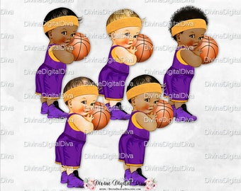 Little Prince Basketball Purple   Gold Shorts Jersey Black Sneakers  11c459354