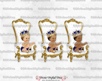Light Skin Tone Clipart Instant Download Baby Boy Prince Throne Chair Red White Gold
