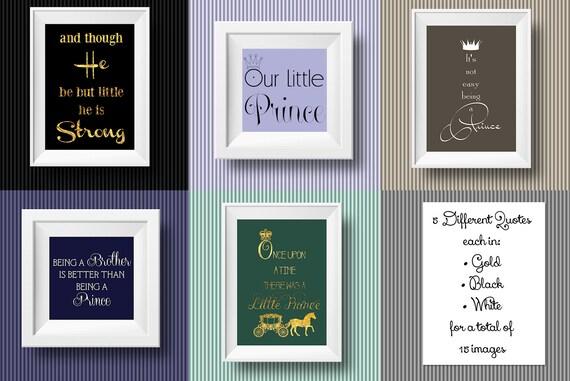 5 Kleine Prinz Junge Zitate Kinderzimmer Kunst Karten Einladungen Gästebuch Gold Schwarz Weiß Digitale Clipart Instant Download