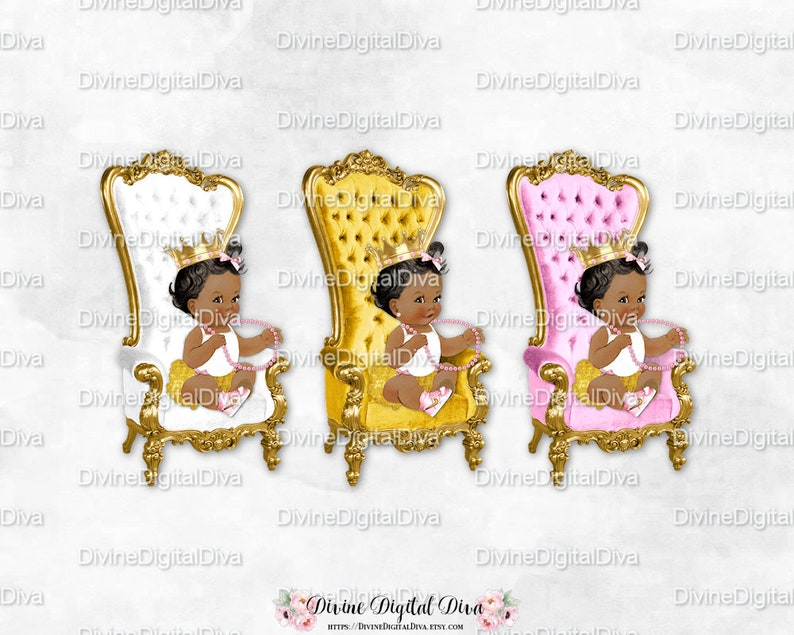 African Weiss American Stuhl Rosa Vintageetsy Baby Gold Thron