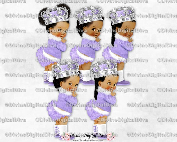 Clipart Download Turquoise Teal Gold Braids Ruffle Pants Boots Pearls African American Skin Tones Vintage Baby Girl