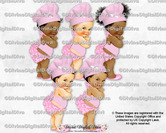 Baby Chefs BBQ BabyQ Welcome Gender Reveal Sign 16x20 Clipart Instant Download Red Yellow Gingham Check Hat Apron Boy Girl Light Tone