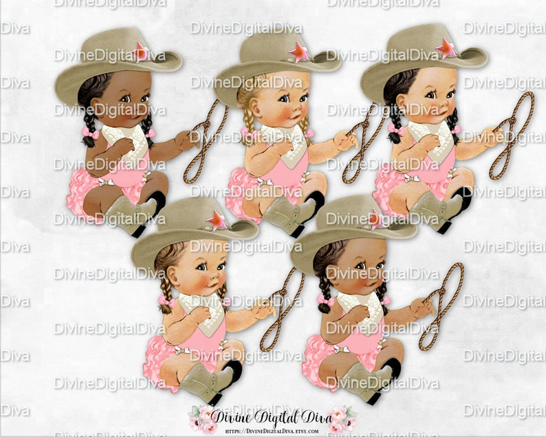 503cde03b077a Sitting Little Cowgirl Pink   Khaki Beige Cowboy Hat Boots