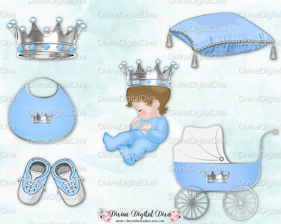 Clipart Download Sitting Baby Boy 3 Skin Tones Winter Royal Prince Sleigh Light Blue Fur Trimmed Cape Gold Crown
