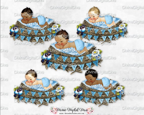 Bless Our Nest Baby Sleeping In Nest With Banner Parent Birds Etsy