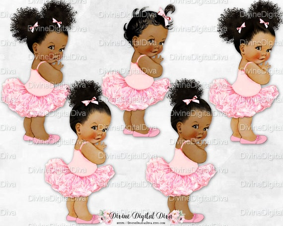 Princess Ballerina Pink Tutu & Shoes Vintage Baby Girl | EtsyPink Tutu Baby Clipart