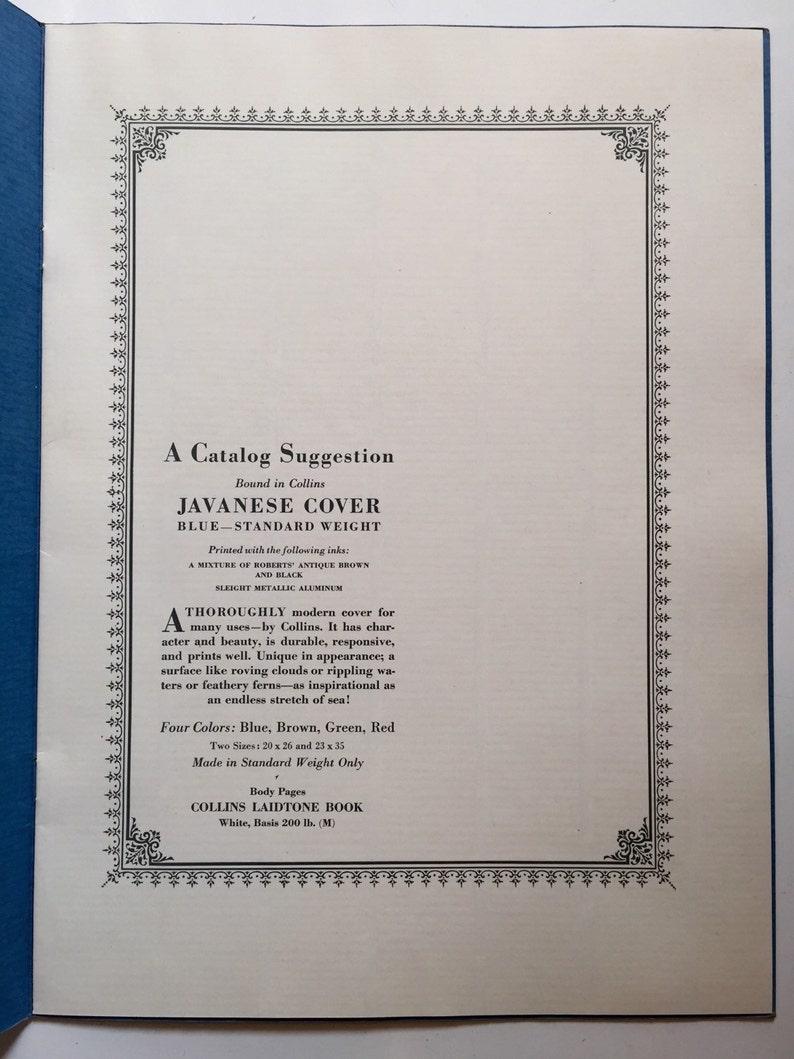 Vintage printing sample catalogs