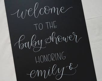 Baby Shower Welcome Sign // Welcome Sign