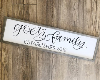 Last Name Sign // Home Wood Sign