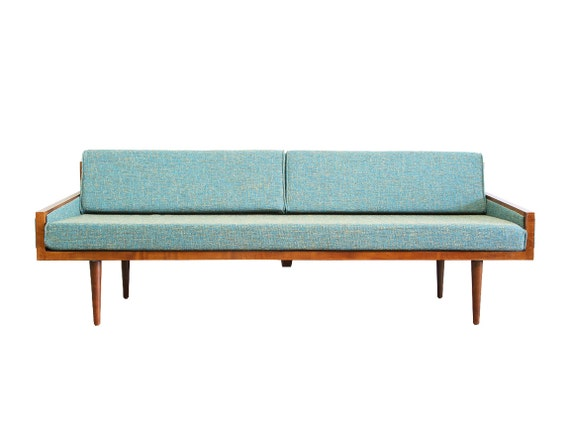 Mid Century Modern Daybed Casara Modern Executive Sofa Daybed | Etsy