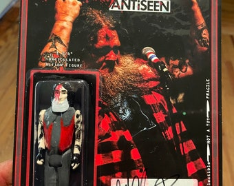 """HAND SIGNED Jeff Clayton Antiseen 3.75"""" action figure by straight to hell toyco. Punk, CoS oddities"""