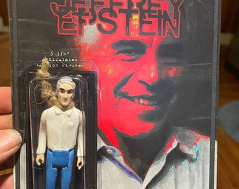 """Jeffrey Epstein 3.75"""" action figure by Straight To Hell Toyco. True crime oddities bizarre"""