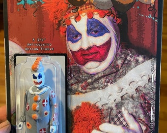 """Patches the Clown 3.75"""" action figure by Straight To Hell ToyCo. Pogo Gacy oddities true crime"""