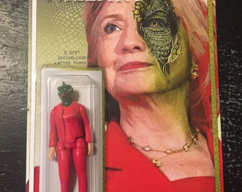 """Hillary Clinton 3.75"""" action figure by Straight To Hell Toyco. True crime oddities bizarre"""