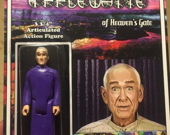 """Marshall Applewhite 'Heaven's Gate' 3.75"""" action figure by Straight To Hell Toyco. True crime oddities bizarre"""