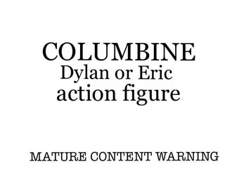 """Columbine Eric or Dylan 3.75"""" scale action figure by Straight To Hell ToyCo. Truecrime oddities"""