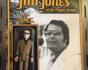 """Jim Jones 3.75"""" action figure by Straight To Hell Toyco. True crime oddities bizarre"""
