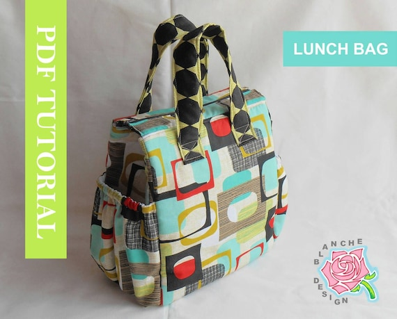 Insulated Lunch Bag PDF Pattern Tote Bag Sewing Pattern PDF | Etsy