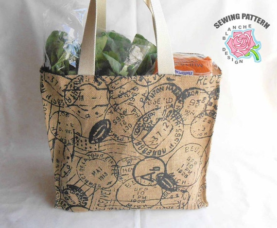 Reusable Grocery Bag Sewing Pattern Reusable Shopping Bag Etsy