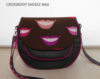 Crossbody Saddle Bag PDF Sewing Pattern, Cross Body Purse Pattern