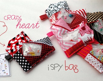 Valentine Crazy Heart  I Spy bag, sensory toy, seek and find game, quiet game