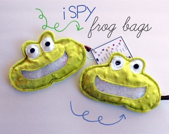 Springtime Frog I Spy game, plush and cuddly, get the wiggles out, sensory toy, quiet game