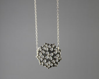 Lace necklace, sterling silver