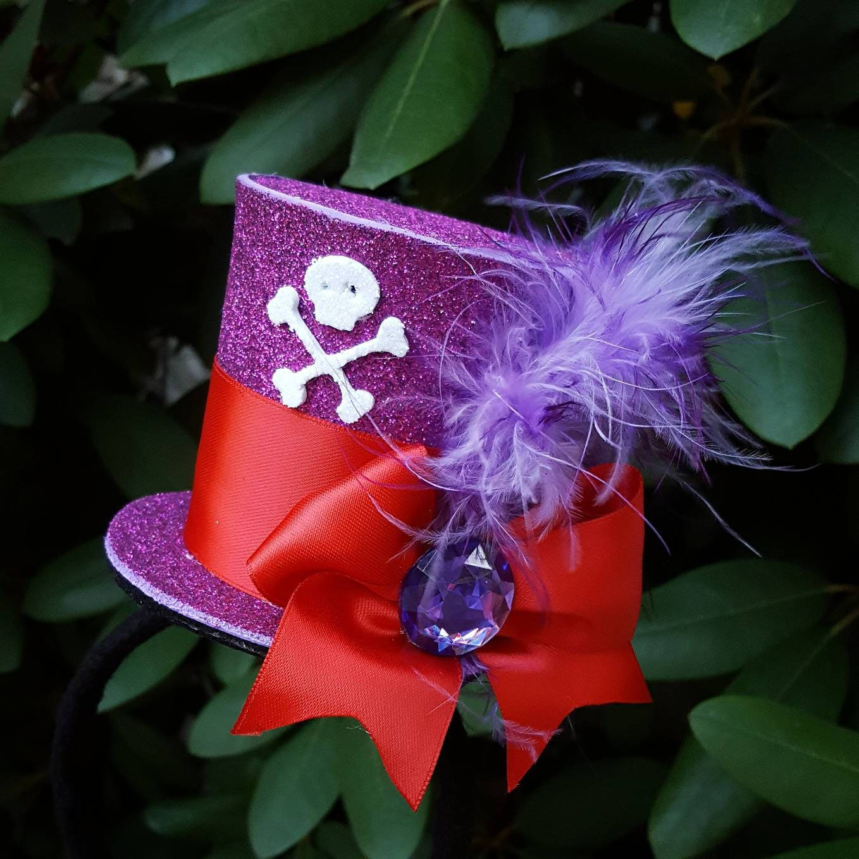 Villain Headband Villain Costume Flower Headband Halloween Headband Princess and the Frog Dr Facilier Costume Dr Facilier Flower Crown