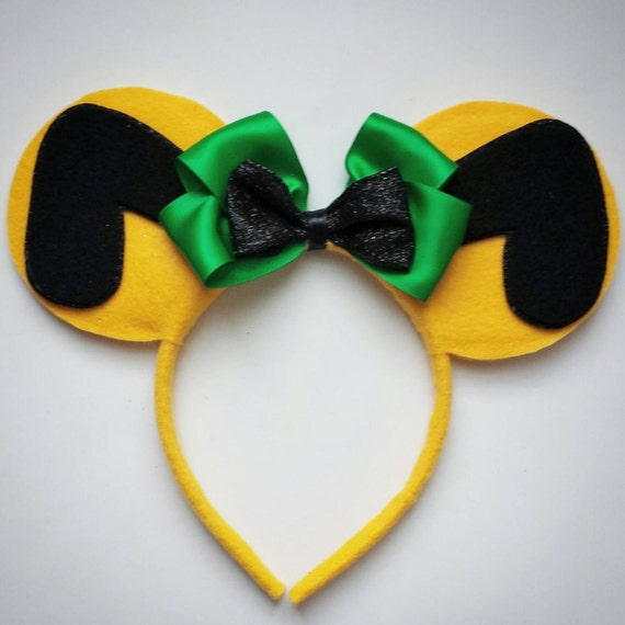 Pluto Inspired Minnie Mouse Ears Headband Dog/Yellow/Green/Mickey Mouse/Birthday by Etsy