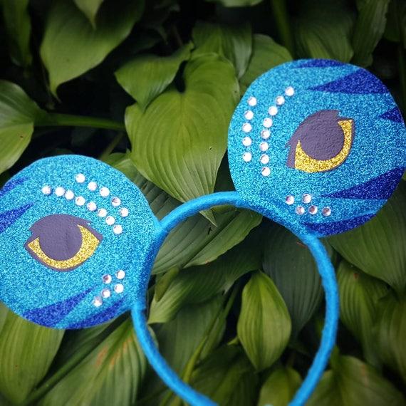 Avatar Pandora Neytiri Inspired Minnie Mouse Ears Headband