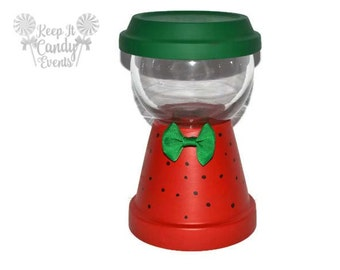 Strawberry Theme Faux Gumball Machine Centerpiece, Gumball Machine Decoration, Faux gumball machine, birthday centerpiece, Watermelon Theme