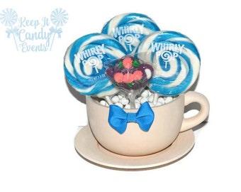 Oversized Tea Cup Lollipop Centerpiece, Tea Party Centerpiece, Tea Cup Centerpiece, Alice in Wonderland Centerpiece, Alice in Wonderland