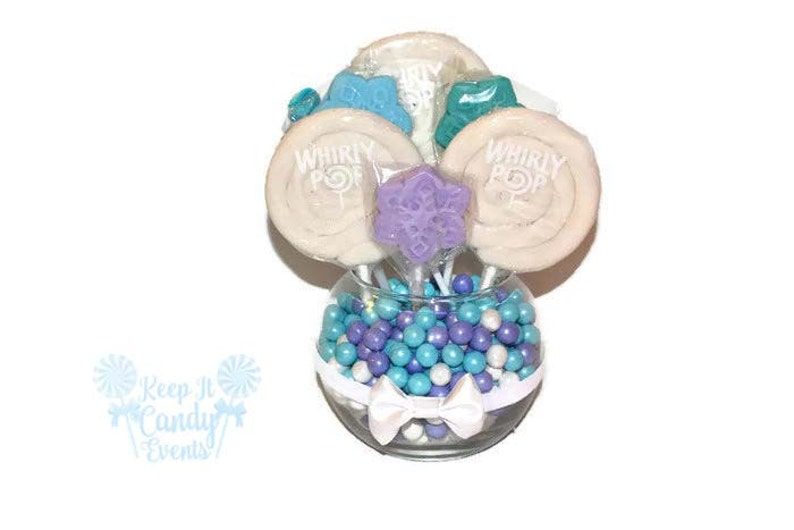 Snowflake Small Round Lollipop Centerpiece Snowflake Themed image 0