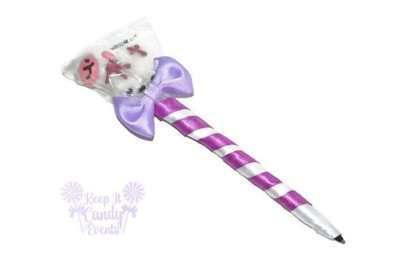 Lamb Lollipop Pen Religious Lamb Candy Pen Baptism Favor image 0