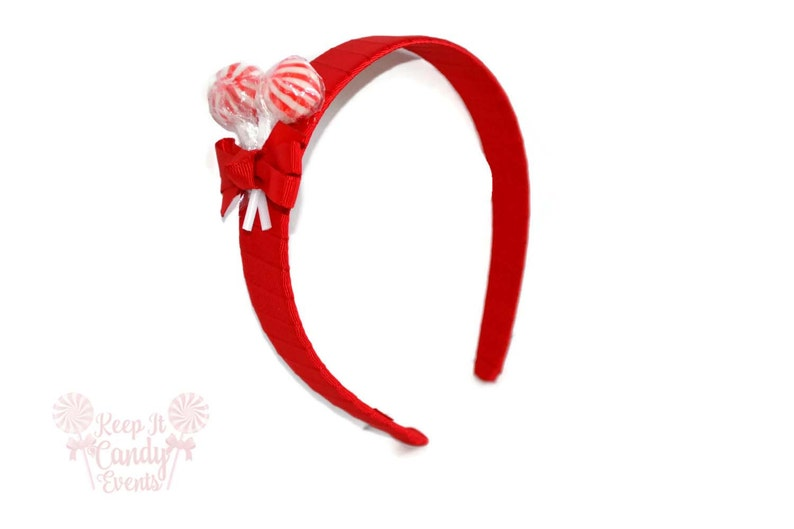 Red Lollipop Headband  Red Headband Candy Headband Red image 0