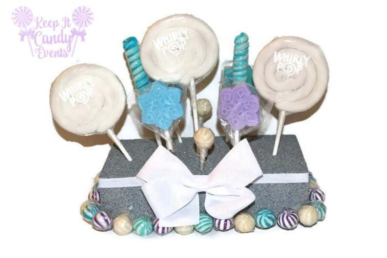 Snowflake Lollipop Centerpiece Snowflake Candy Buffet Snow image 0