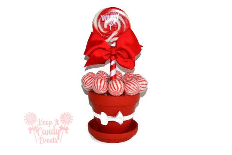 Medium Red Lollipop Centerpiece Christmas Wedding image 0