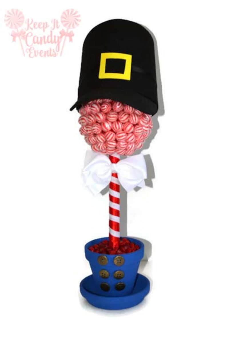 Lollipop Candy Nutcracker Topiary Christmas Centerpiece image 0