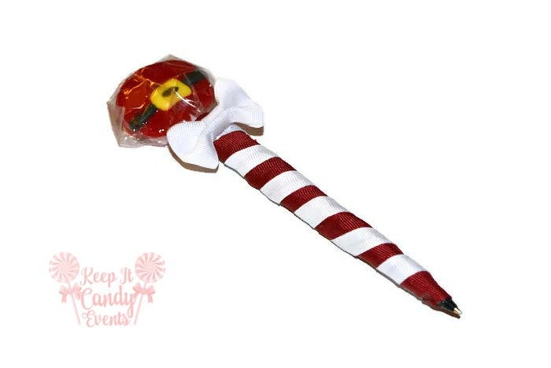 Santa Lollipop Pen Christmas Lollipop Pen Christmas Favor image 0