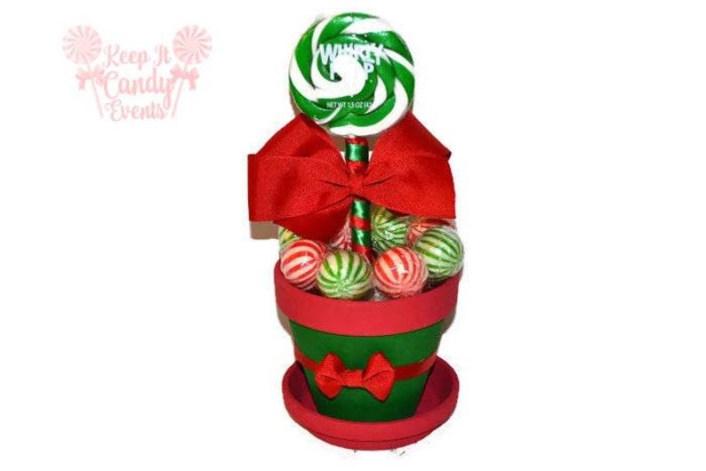 Red and Green Christmas Lollipop Centerpiece Lollipop image 0
