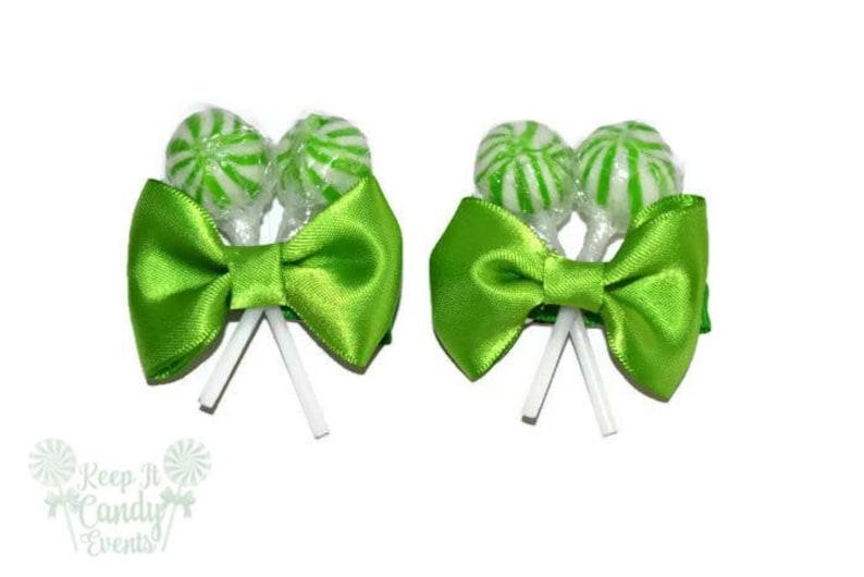 Green Lollipop Hair Clips Candy Hair Clip Sweet Sixteen Hair image 0