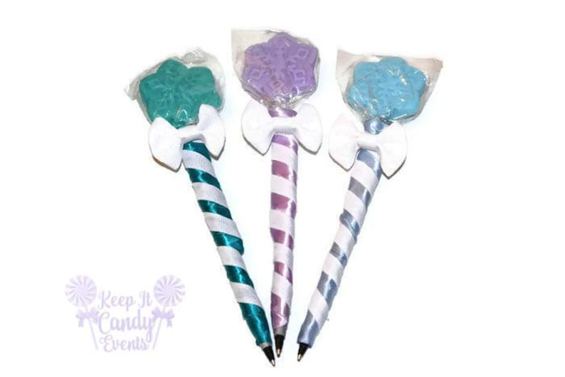 Snowflake Lollipen Snowflake Lollipop Pen Snow Candy Pen image 0